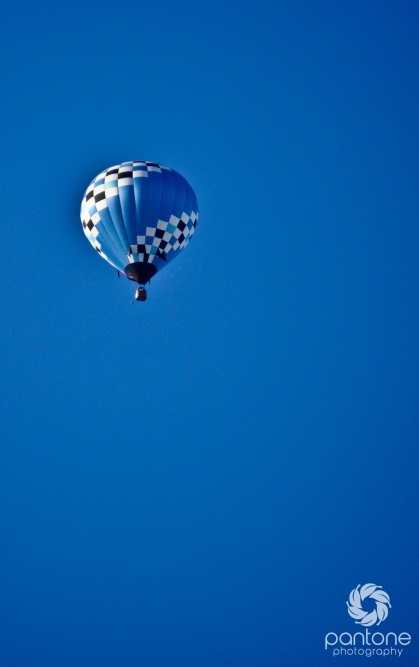 Hot air balloon over Indianapolis