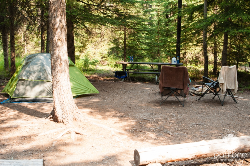 August 07, 2014 - Campsite at Bowman Lake