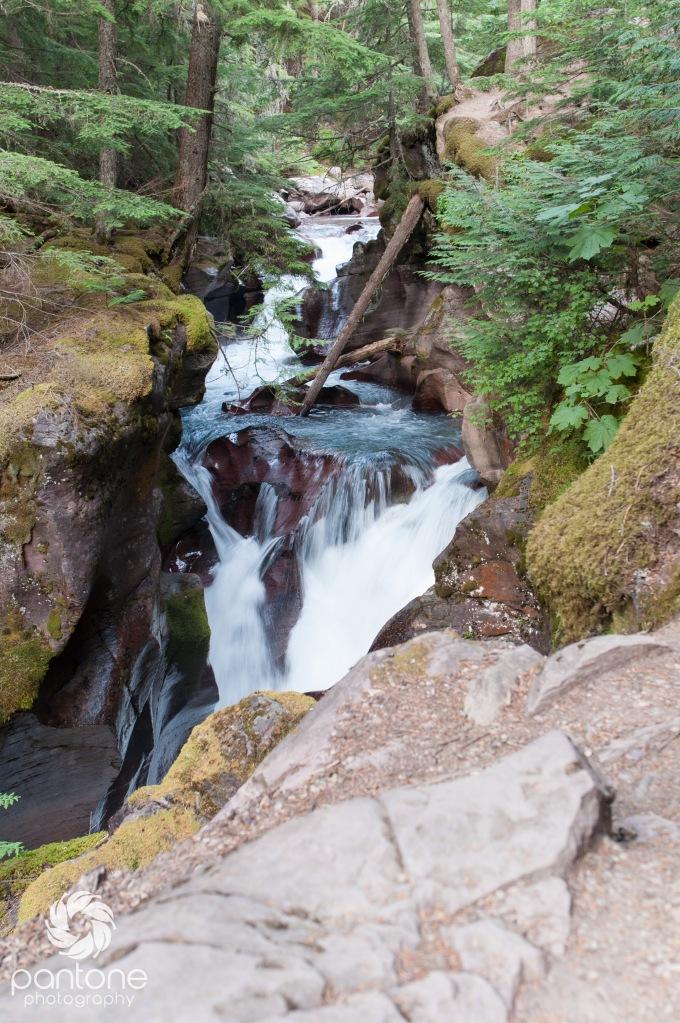 Avalanche Lake Waterfall