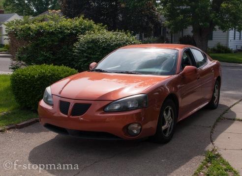 My car, the orange blur