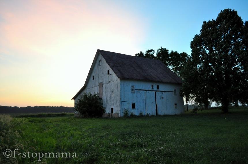 Old barn rural Indiana