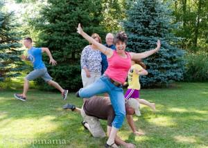 Family photo bomb