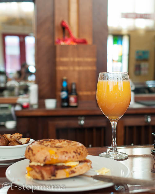 New Orleans breakfast & a mimosa