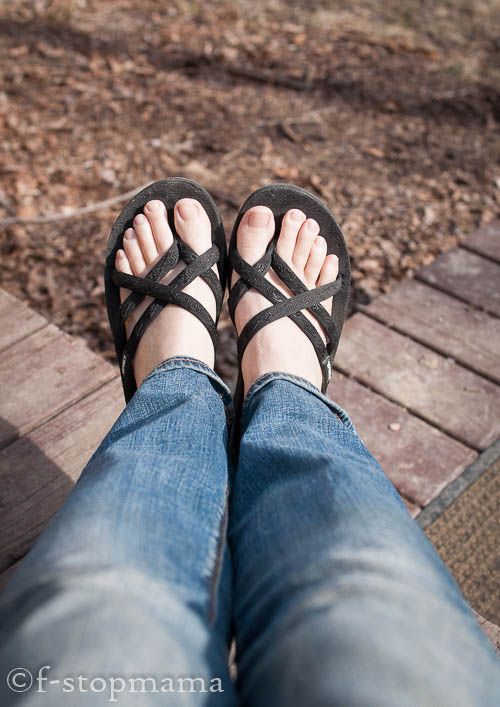 Sandals in the winter