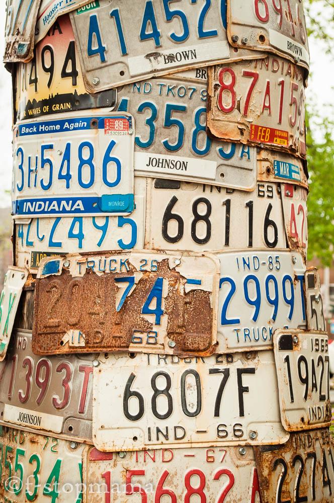License plates in Nashville, IN
