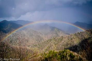 Rainbow over Smoky Mountains NP-1