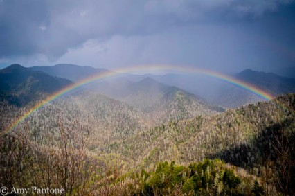 Rainbow over Smoky Mountains NP-1