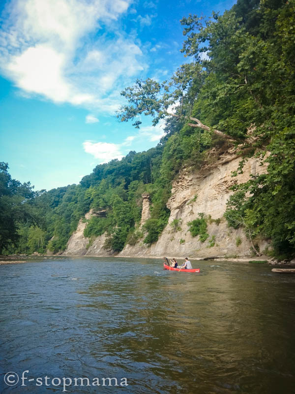 canoeing on Sugar Creek