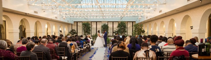 A December Wedding:  Piper's at the Marott