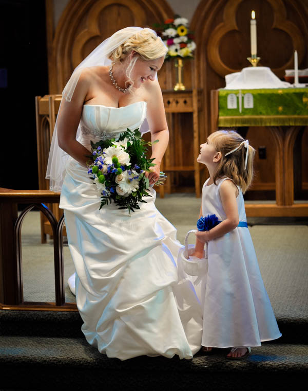 Noblesville Bride & Flower Girl